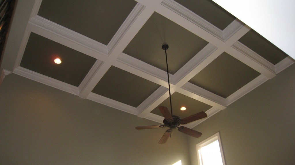 Completed Coffered Ceiling - River Run